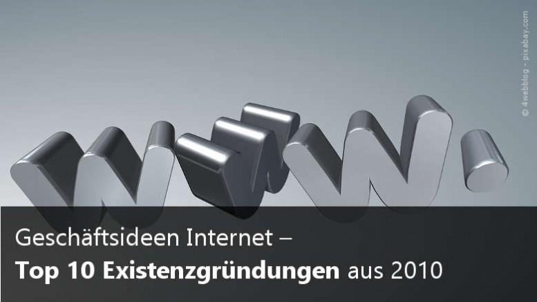 Top 10 Existenzgründungen 2010