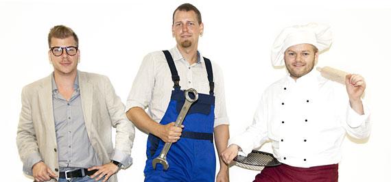 Das Team von Pizza Innovazione: Bence Csöres, Leon Foris, Gerd Hartmann.
