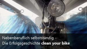 Nebenberuflich selbstständig: clean your bike