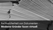 Rechtssichere Dokumente durch Faxen