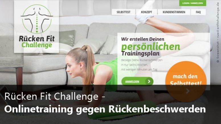 Rücken Fit Challenge - Online Kurs