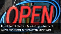 Marketing mit Kunststoffplatten