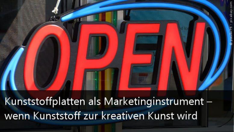 Marketing mit Kunststoffplatten