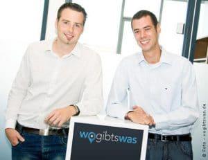Die beiden Gründer von wogibtswas.de