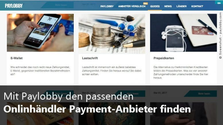 Payment-Anbieter finden