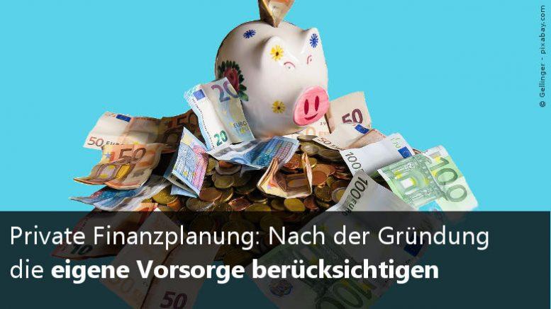 Private Finanzen & Vorsorge für Gründer