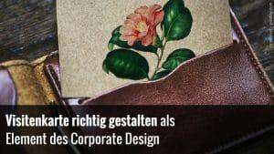 Vistenkarte & Corporate Design