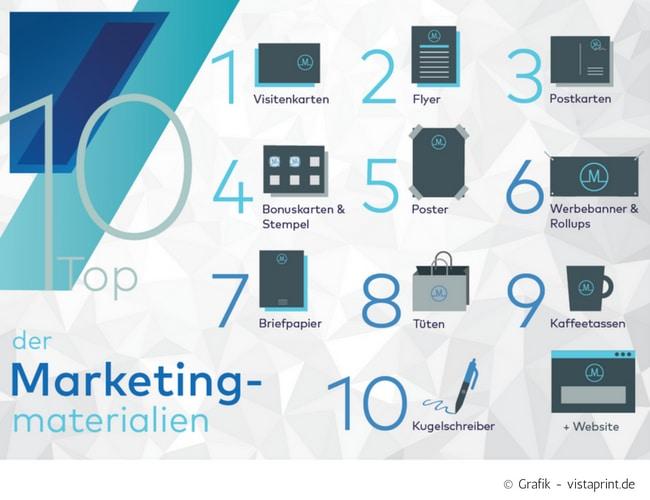 Top 10 Der Marketingmaterialien Für Gründer Kleinunternehmen