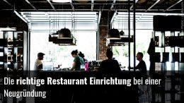 Neugründung Restaurant