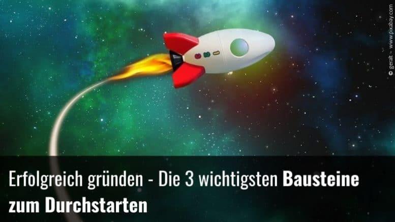 Raketenstart Gründung