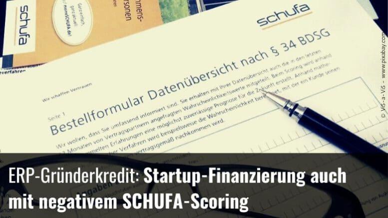 Startup-Finanzierung Schufaeintrag