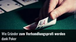 Verhandlungen meistern dank Poker